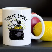 Snoopy Feelin Lucky Tea Coffee Classic Ceramic Mug 11oz