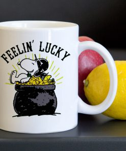 Snoopy Feelin Lucky Tea Coffee Classic Ceramic Mug 11oz