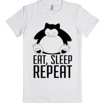 Pokemon Snorlax Eat Sleep Repeat Unisex Premium T shirt Size S,M,L,XL,2XL
