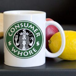 Starbucks Consumer Whore Tea Coffee Classic Ceramic Mug 11oz