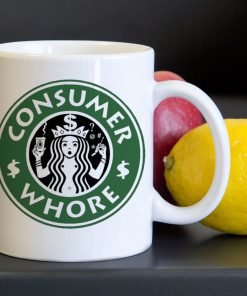 Starbucks Consumer Whore Tea Coffee Classic Ceramic Mug 11oz