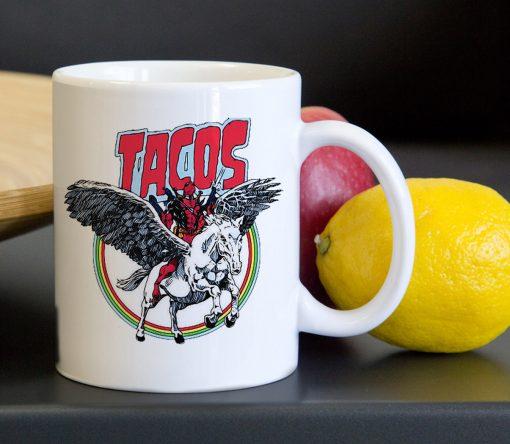 Taco Deadpool Unicorn Tea Coffee Classic Ceramic Mug 11oz