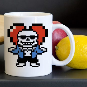 Undertale Sans Heart Tea Coffee Classic Ceramic Mug 11oz