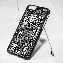 Wutang Hip Hop Collage Protective iPhone 6 Case, iPhone 5s Case, iPhone 5c Case, Samsung S6 Case, and Samsung S5 Case