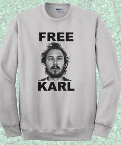Free Karl Workaholics Crewneck Sweatshirt
