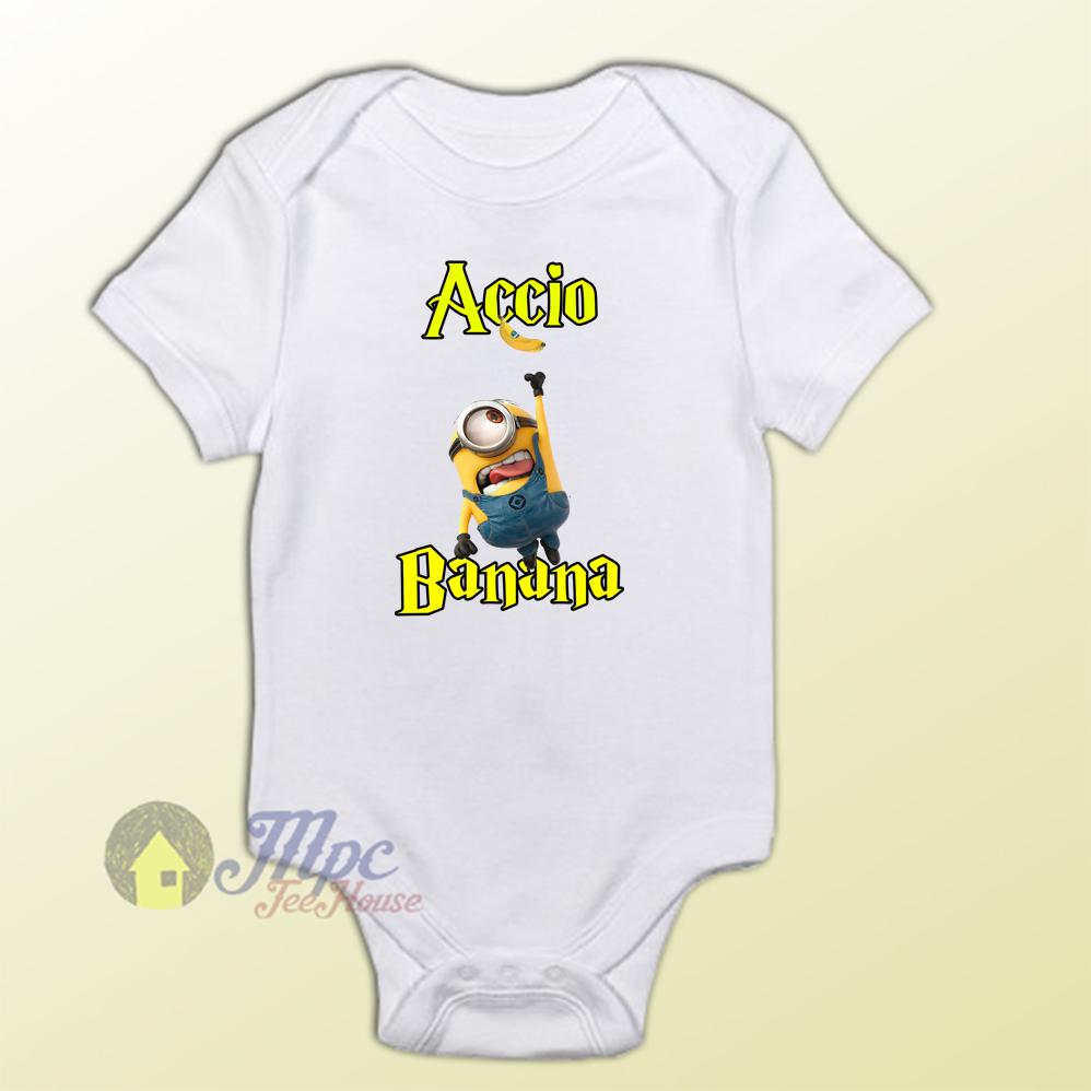 Baby Clothes Despicable Minion Accio Banana Baby Onesies