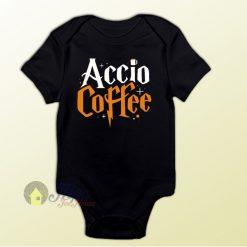 Accio Coffee Harry Potter Spell Baby Onesie Baby One Piece