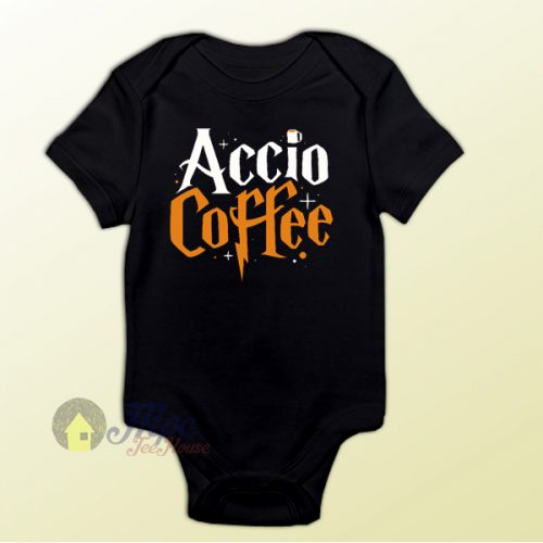 Accio Coffee Harry Potter Spell Baby Onesie Baby One Piece