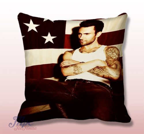 Adam Levine American Flag Throw Pillow Cover