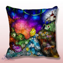 Disney Alice In Wonderland Stained Glass Pillow Cover
