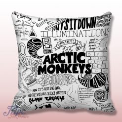 Arctic Monkeys Lyrics College Throw Pillow Cover