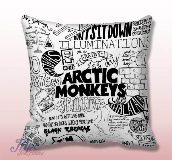 Arctic Monkeys Lyrics College Throw Pillow Cover