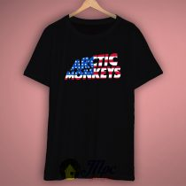 Arctic Monkeys American Flag T Shirt Available Size S M L XL XXL