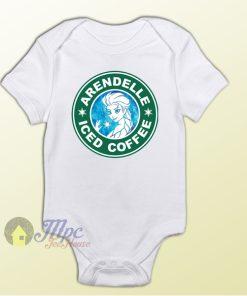 Elsa Frozen Arendelle Starbucks Iced Coffee Baby Onesie