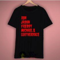 Ash, Jason, Freddy Krueger, Horror Character T Shirt