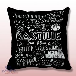 Bastille Pompei Decoratice Throw Pillow Cover
