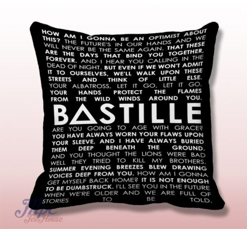 Bastille Quotes Throw Pillow Cover