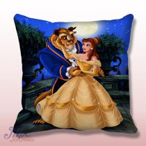 Disney Beauty And The Beast Throw Pillow Cover