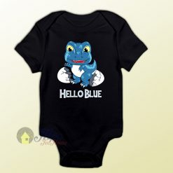 Baby Clothes T-rex Blue Newborn Cute Baby Onesie