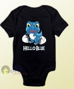 Baby Clothes T-rex Blue Newborn Cute Baby Onesie