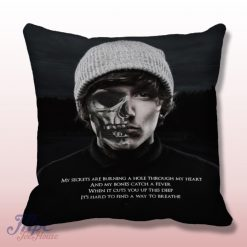 Bring Me The Horizon American Horror Style Throw Pillow