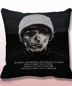 Bring Me The Horizon American Horror Style Throw Pillow
