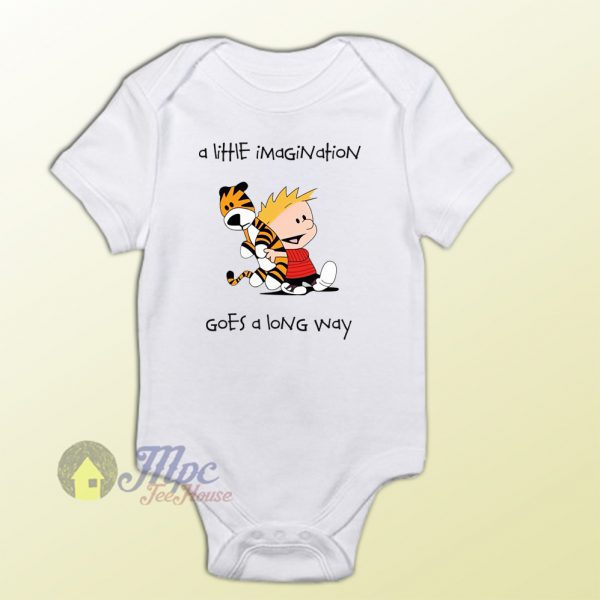Calvin and Hobbes Little Imagine Baby Onesie