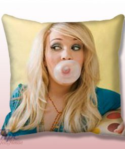 Carrie Underwood Buble Gum Throw Pillow Cover