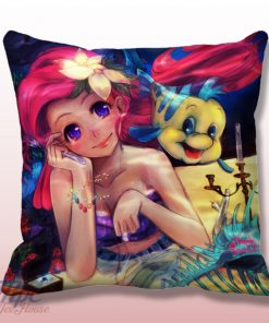 Cute Ariel Little Mermaid Pillow Cover