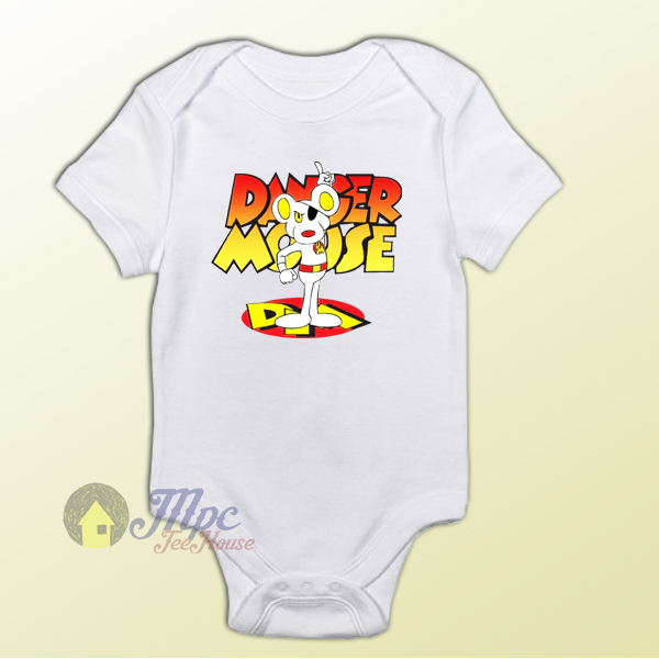 Danger Mouse Classic Cartoon Baby Onesie