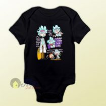 Doctor Rick and Morty Collage Baby Onesie