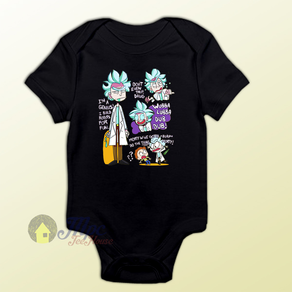 Doctor Rick And Morty Collage Baby Onesie Mpcteehouse