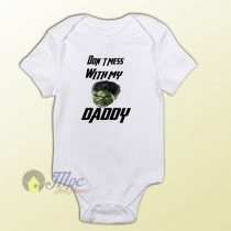 Don't Mess With My Daddy Hulk Baby Onesie
