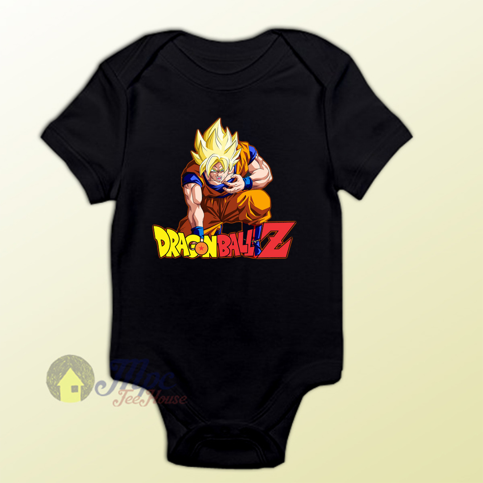 Dragon Ball Z Son Goku Super Saiyan Baby Onesie