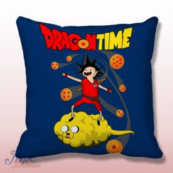 Dragon Ball Adventure Time Throw Pillow Cover