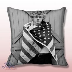 Evan Peters American Horror America Flag Throw Pillow Cover