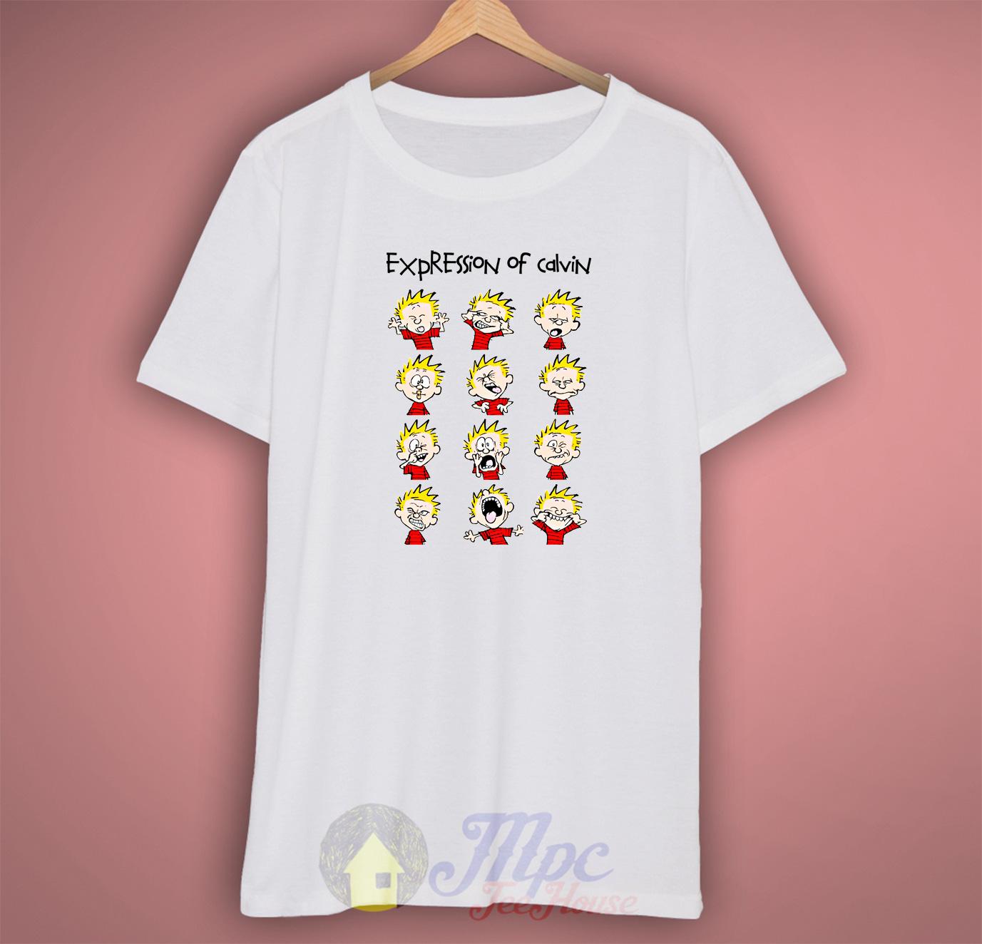 Expression Calvin Hobbes T Shirt