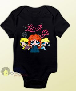 Frozen Let it Go Power Puff Girl Style Baby Onesie