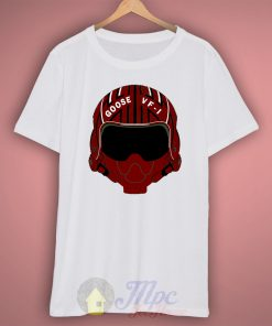 Top GUn Goose Helmet T Shirt