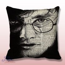 Harry Potter Face Throw Pillow Cover