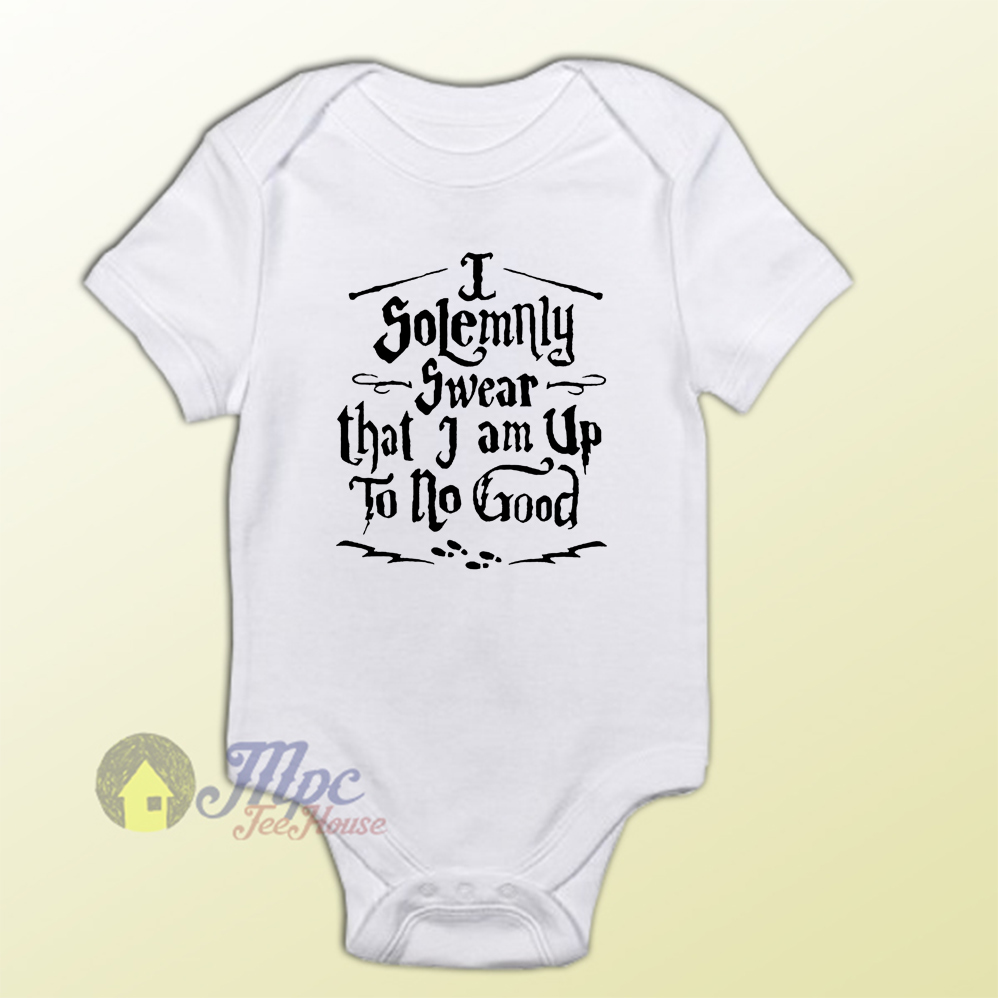 ee68d1e40 Harry Potter Quote I Solemnly Baby Onesie – Mpcteehouse: 80s Tees
