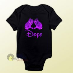 Mickey Hand Hispter Dope Baby Onesie