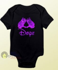 Mickey Hand Hispter Dope Baby Onesie
