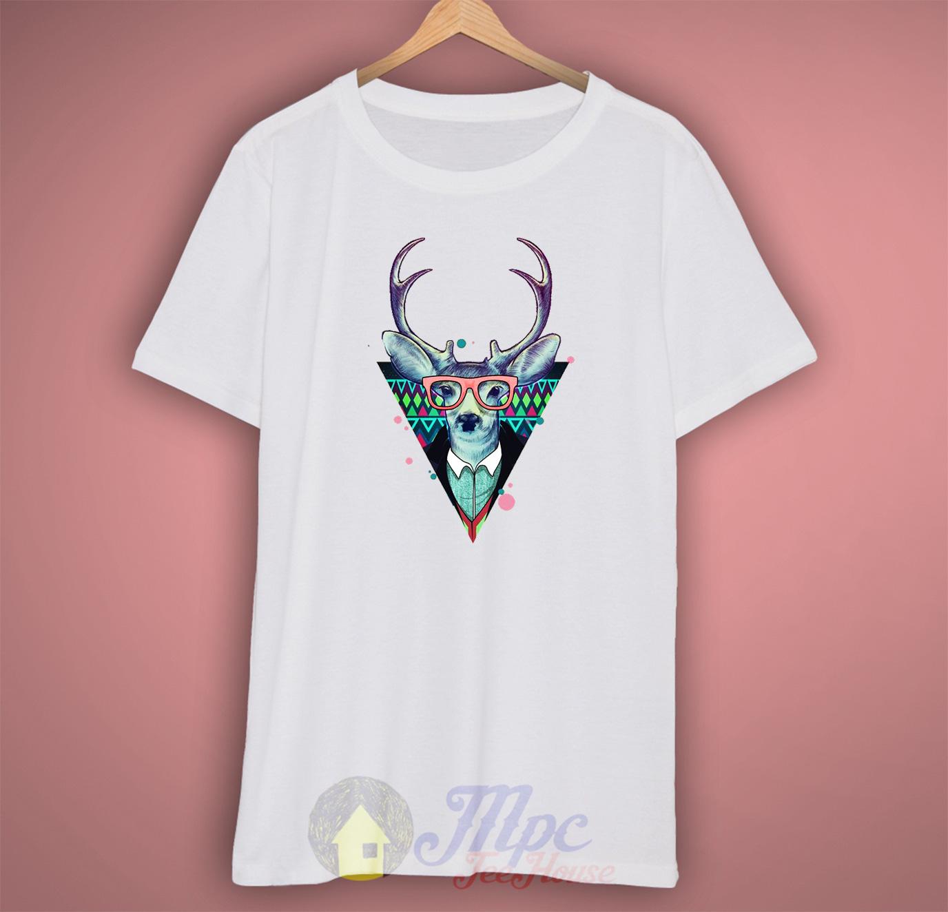 Hipster Deer T Shirt