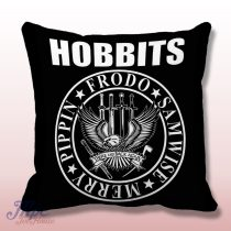The Hobbit Ramones Inspired Throw Pillow Cover