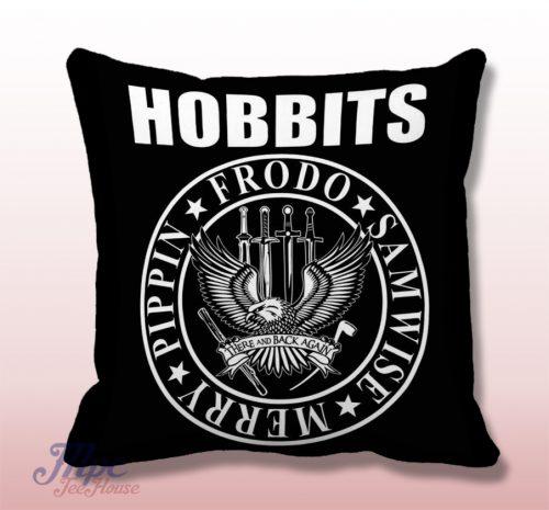 The Hobbit Ramones Inspired Throw Pillow Cover