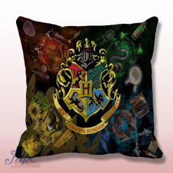 Hogwarts School Symbol Throw Pillow Cover
