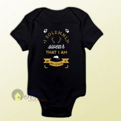 I Solemnly Swear Harry Potter Quote Baby Onesie