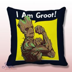 I Am Groot Guardian Galaxy Throw Pillow Cover