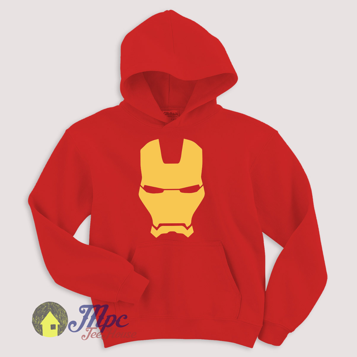 Iron Man Mask Hoodie Size S Xxl Mpcteehouse 80s Tees Ironman Red
